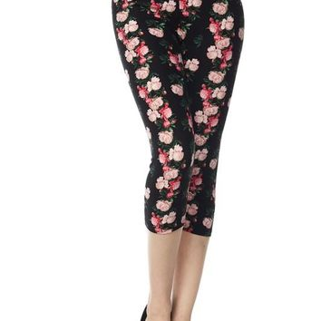 Fabulous Floral Capri Leggings