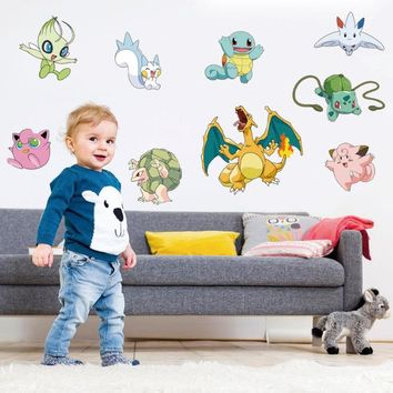 Pokemon Go Cartoon Wall Stickers for Kids Rooms - Variety