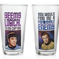 Star Trek Set of Four 16oz Pint Glass Set