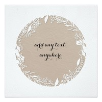 Botanical Ring Tan All Occasion Card