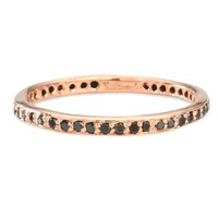 Catbird :: shop by category :: JEWELRY :: Narrow Black Diamond Eternity Band
