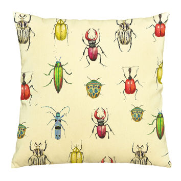 Watercolor Bug Printed Cotton Decorative Pillows Cover Cushion Case VPLC_03
