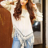Bohemian Crochet Women Shirts