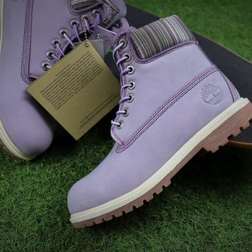 Sale Timberland Icon 6 Classic Purple Grey Winter Outdoor Boots