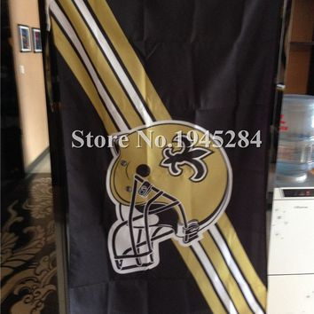 NFL New Orleans Saints Flag Helmet New 3x5ft 90x150cm Polyester Flag Banner, free shipping