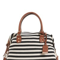 Sole Society 'Leighton' Stripe Duffel Bag