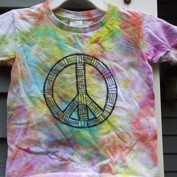 4T Peace Sign T-Shirt for toddlers, Toddler Tie Dye Peace Sign Shirt, Little Kids Tie Dye Shirt, 4yo Boy, Toddler Boys, Hippie Toddler girls