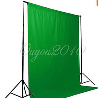 Green Screen Backdrop Muslin Video Photo Photography Lighting Studio Background Green Free Shipping