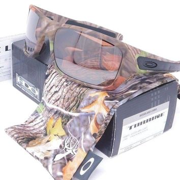 Oakley TURBINE Sunglasses OO9263-28 Woodland Camo with VR28 Black Iridium lenses