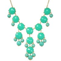 Bubble Necklace, Green Necklace, Statement Necklace (Fn0508-Green) | AihaZone Store
