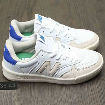 New Balance Fashion Casual All Match N Words Breathable Couple Sneakers Shoes White+grey+blue G A0 Hxydxpf