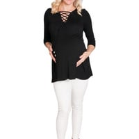 Lace Me Up Maternity Top
