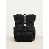 Kenneth Cole Columbian Leather and Shearling Rucksack Backpack