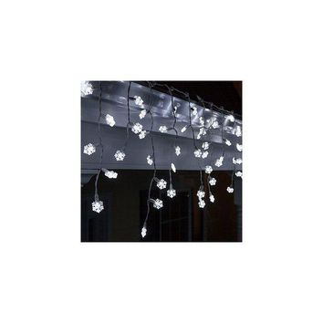 DCCKX8J Wintergreen Lighting 70 Light Snowflake Icicle LED Light