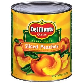 Del Monte® California Sliced Yellow Cling Peaches in Light Syrup 106 oz. Can - Walmart.com