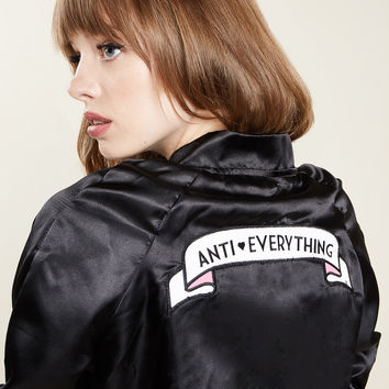 Anti-Everything Bomber Jacket