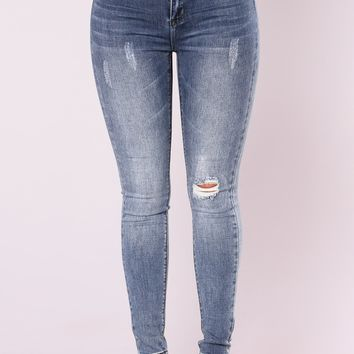 Sweet Cheeks Ankle Jeans - Medium Blue Wash