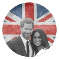 Prince Harry and Meghan Markle Dinner Plate