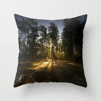 God Im tiny Throw Pillow by HappyMelvin