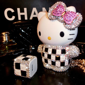 Christmas Luxury Hello Kitty External Battery Power bank Diamond Phone Charger 10000mah for iphone for samsung Doogee X5 BQ E5