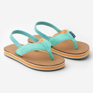 Hari Mari - Kids Scout Flip Flops - Mint & Orange w/ Strap