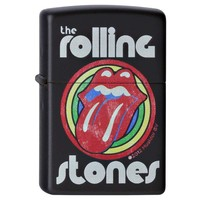 Zippo 28630 Classic Black Matte Rolling Stones Music Windproof Pocket Lighter