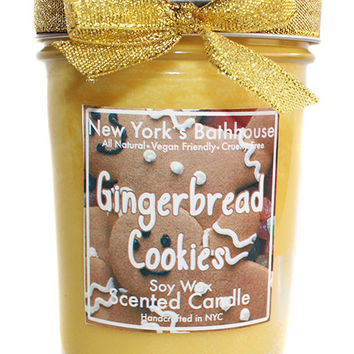 Gingerbread Cookies Mason Jar Soy Wax Candle