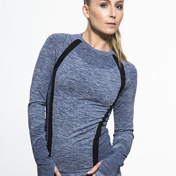 Breeze Long Sleeve Tees in Blue
