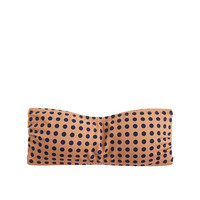 J.Crew Womens Grid Dot Bandeau Top