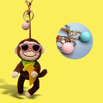 Cool Backpack school Fashionable Cute and Cool plush toy series Monkey Stuffed Animals Clip Keychain Kids Plush key rings the backpack Toys Gifts AT_52_3