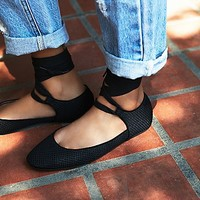 Jeffrey Campbell + Free People Womens Garbo Flat