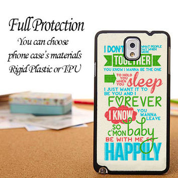 Happyly Lyrics One Direction Case iPhone 6 / 5c / 5/5s / 4/4s, Galaxy S6, S5, S4, S3, Xperia Z,Z1,Z2 casesy S6, S5, S4, S3, Xperia cases