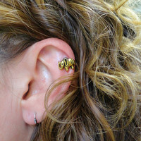 Gold Elephant Cartliage Earring Conch Tragus Helix Piercing