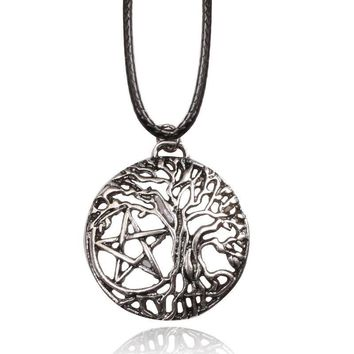 Yggdrasil Tree of Life Pentacle Necklace pendant for Women Men Love Jewelry