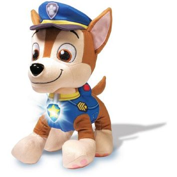 "Chase Paw Patrol Real Talking Soft Cuddly 12"" Tall"