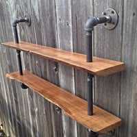 Living Edge Double Bookshelf Reclaimed Wood Industrial Steampunk