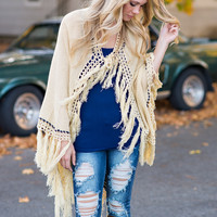 Aztec Printed Novelty Sleeve Poncho