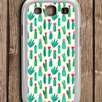 Cactus Cute Collage Samsung Galaxy S3 Case