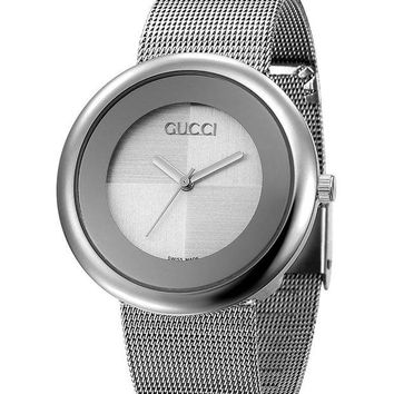 GUCCI Mesh belt Simple sense£¬shiny, fashion watch L-PS-XSDZBSH Silver