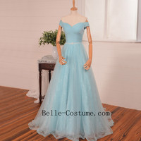 Prom Dresses, Tulle Prom Dresses, Cap Sleeve Prom Dress, Lace Up Prom Dress, Elegant Evening Dresses,