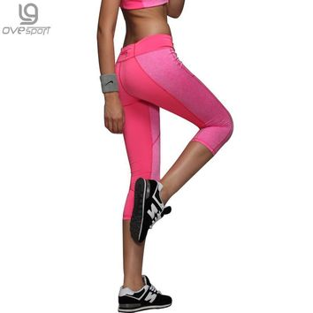 Sexy Women's Skinny Workout Leggings Light Reflecting Fitness Trousers Adventure Time Exercise Capri Pants Movement Leggins 1025