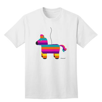 Colorful Hanging Pinata Design Adult T-Shirt by TooLoud