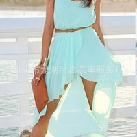 SIMPLE - Chiffon Beach Sleeveless Handkerchief One Piece Dress Women Tank Vest a11625