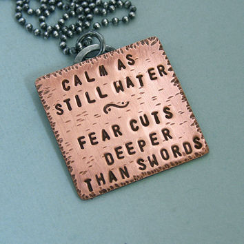 Game of Thrones Quote Necklace Arya Stark by MadamePoindextra