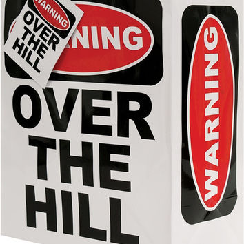 Warning Over the Hill Gift Bag
