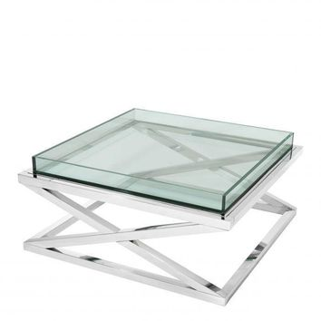 Crossed Leg Glass Coffee Table | Eichholtz Curtis