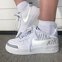 Nike Air Force 1 High 07 LV8 3M Reflective Women Men Sport Running Shoes Sneakers White