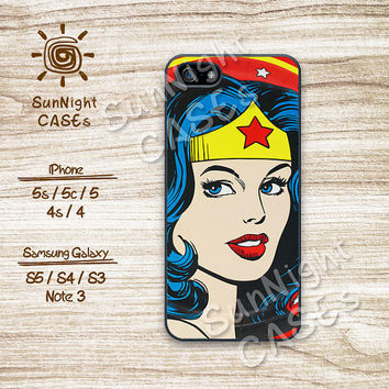 Wonder Woman, Pop Art, DC Comics, iPhone 5 case, iPhone 5C Case, iPhone 5S case, Phone case, iPhone 4 Case, iPhone 4S Case, Phone Skin, ww02