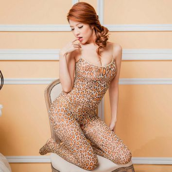 Fashion Sling Coveralls Sexy leopard Stockings Nightclubs Pantyhose Line crotch reinforced and durable High quality Tights Women