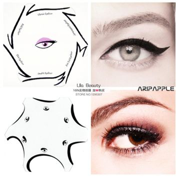 2packs Multifunction Eye Stencil 6 in 1 Eyeshadow and Eyeliner Stencils For Eye Makeup Template Makeup Card Eye Cosmetic Tools